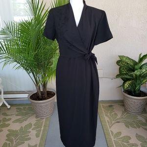 Virgo Petite black dress
